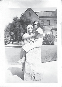 Gussie White & Elsie Goodloe--Tempe College 1931.tif