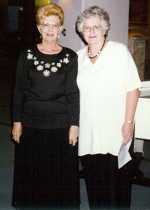 Marky McCarthy and Dorothy Steffano are pictured here at a 1997 SBCO fundraising event.  Both women served on SBCO's first board of directors.