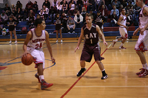#24 Andres Moreno controls the tempo for the Miners.JPG