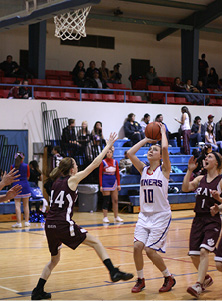 #10 Annalisa Robles takes the shot against the Lady Bearcats.JPG