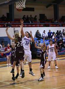 #32 Angelica Zuniga hits the jumper for the Lady Miners.JPG