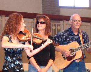 Tara, Chris and Ron Houser perform on Feb. 24.JPG